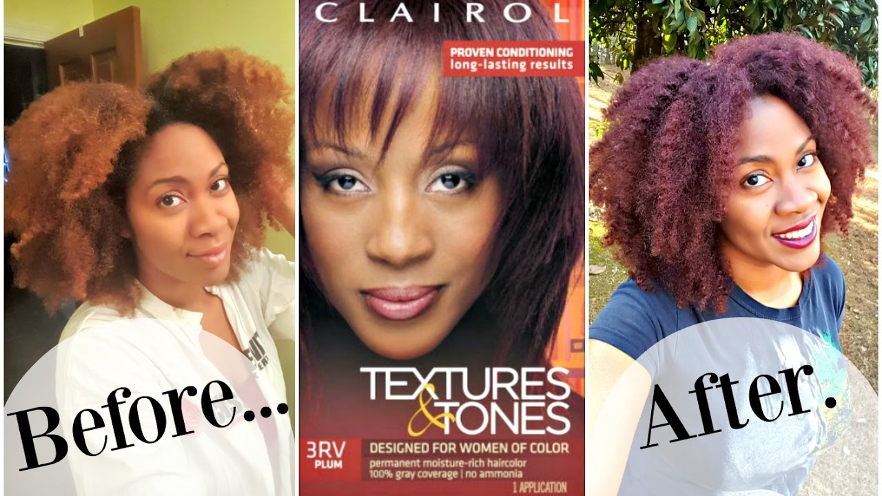 How I Color Using Clairol Textures And Tones Plum Naturally Michy