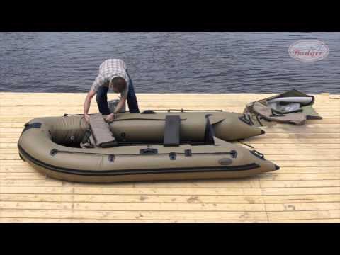 Сборка и разборка ПВХ лодки Badger Duck Line 340
