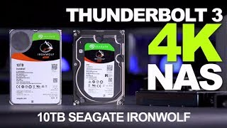 Seagate Ironwolf Pro Drive with QNAP Thunderbolt NAS 4K for Video Editing
