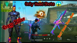 ||FREE FIRE BEST DRAG HEAD SHOTS GAME PLAY || WITH LIVELY BEAST XM8|| BEST DRAG SHOT GUN||