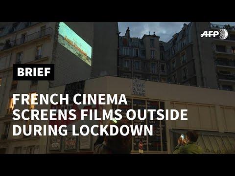 Paris cinema screens films outside during lockdown | AFP