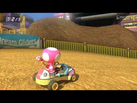 Wii U - Mario Kart 8 - (DS) Wario Stadium Leaf Cup 100cc - Yoshi