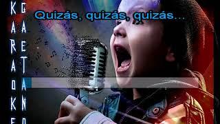 Andrea Bocelli Quizas, Quizas, Quizas karaoke con coro