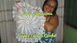 Como Hacer Un Tapete Tejido A Crochet SUSCRIBANCE A MI CANAL .......................................REDES SOCIALES............................................ Grupo Facebook: ...