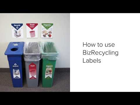 How to use BizRecycling Labels