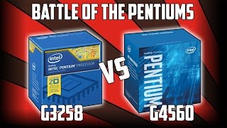 Kaby Lake G4560 Vs G3258 | Budget Pentium Battle