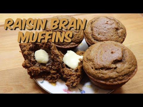 Raisin Bran Muffins / Easy Raisin Bran Muffin Recipe