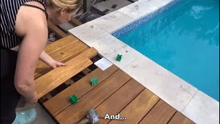 Wooden terrace around the pool - Nicole builds our swimming pool - Episode 12-1