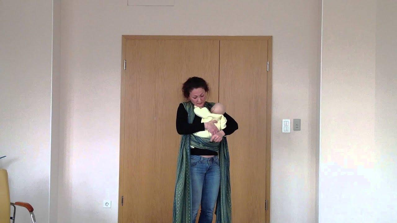 Как носить малыша в слинге? - YouTube