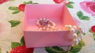 Как сделать коробочку без клея и ножниц (Коробочка-оригами) | Origami gift box