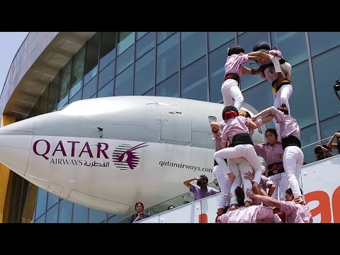 Building The Human Tower of Catalonia  - Qatar Airways