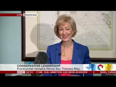 Andrea Leadsom speech to be Prime Minister
