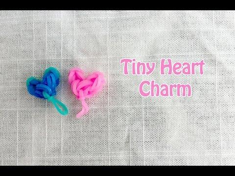 Rainbow Loom New Easy Tiny Heart Charm Tutorial