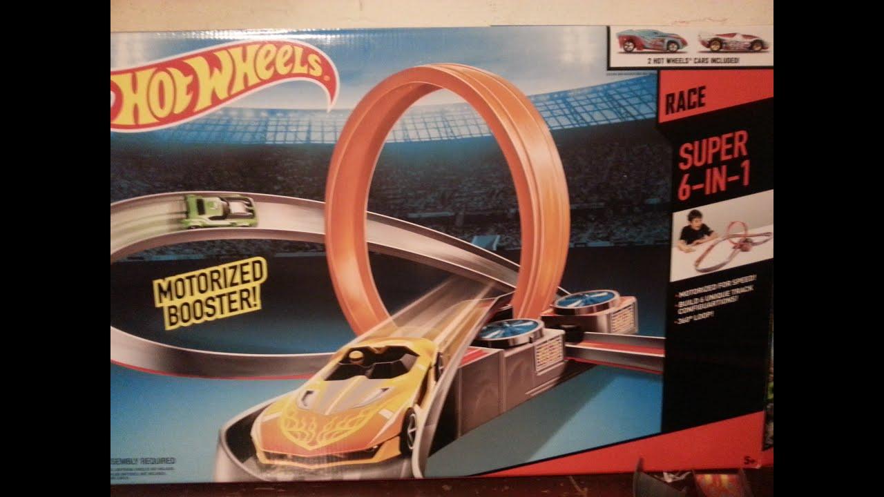 b2ad1ea852c89 √ Mattel Hot Wheels Track Builder Super 6