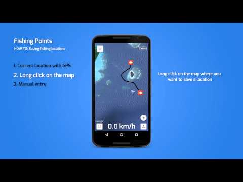 Fishing Points App - How To: Saving fishing location