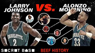 Larry Johnson\'s beef with Alonzo Mourning included a sad Hornets mural and a weird Knicks-Heat fight