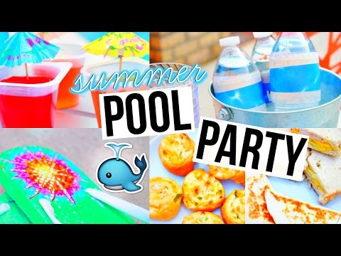 DIY POOL PARTY! Snacks, Decor, & More!
