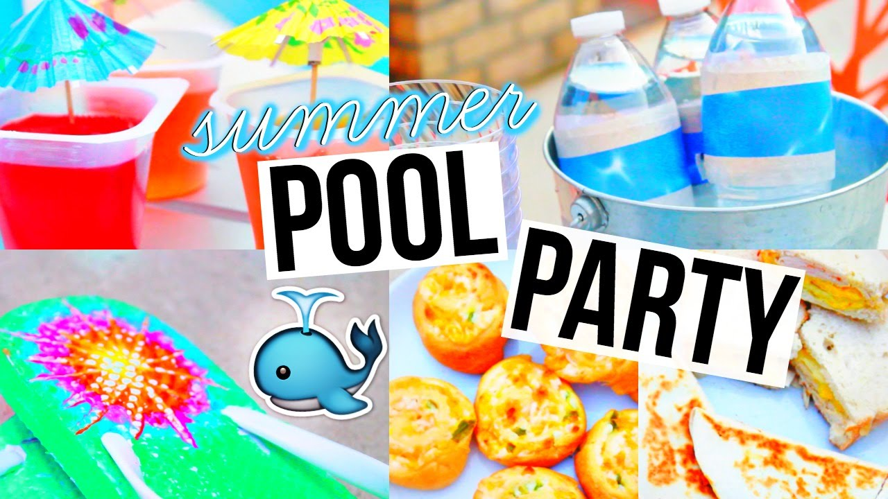 DIY POOL PARTY Snacks Decor More YouTube