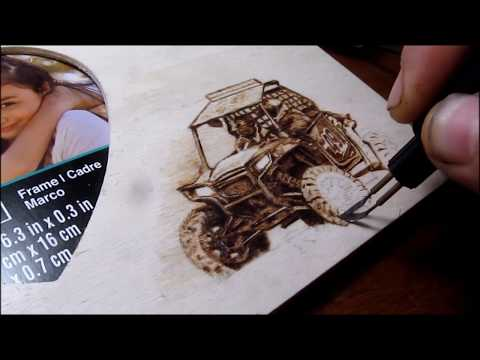 RZR 800 Coming in hot!!! (woodburning-pyrography)