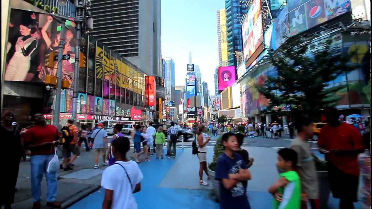 Walk down the times square in new york youtube for What to do around times square
