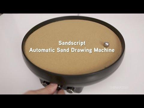 Rendi più zen la tua giornata con questa macchina che disegna sulla sabbia da sola! Ipnotici disegni per un prodotto ThinkGeek.