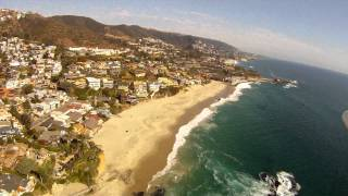 Sky Surfing over Laguna Beach California!  Aerial View in HD!
