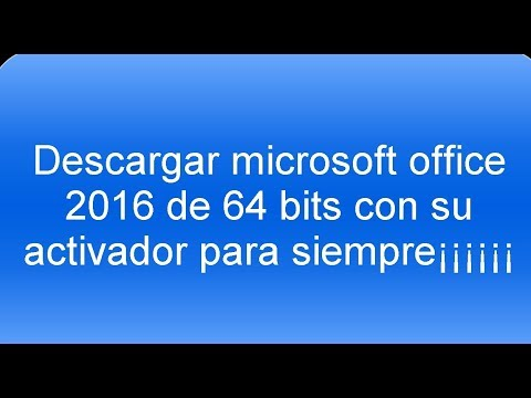 descargar microsoft office 2016