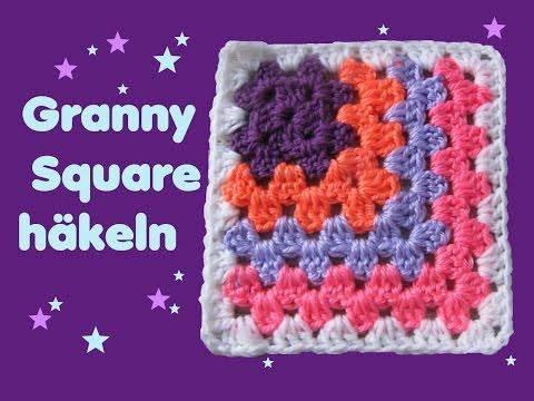 Granny Square Klassisch Mit Farbwechsel Häkeln Tutorial By