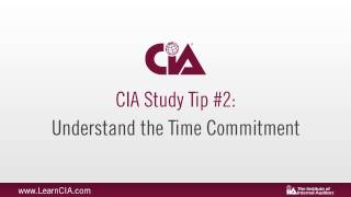 Certified Internal Auditor (CIA) Study Tips