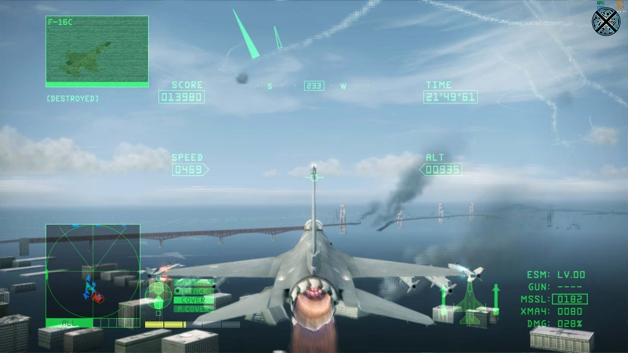 Xenia Xbox 360 Emulator - Ace Combat 6: Fires of Liberation Ingame /  Gameplay! (DX12 WIP)