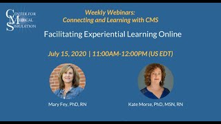 Facilitating Experiential Learning Online | CMS Weekly Webinars