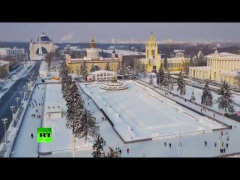 Un drone livre des images sublimes de la plus grande patinoire d'Europe