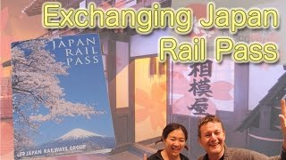 Exchanging Japan rail pass exchange order in Tokyo Japan