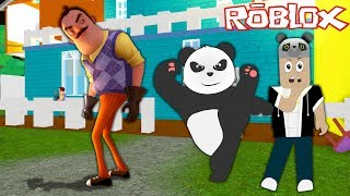 We're Investigating Mysteries in the Bad Neighbor's House!! Roblox Hello Neighbor with Panda