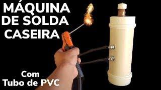 MAQUINA DE SOLDA CASEIRA ÁGUA E SAL DE TUBO PVC / SAIBA COMO FAZER UMA MAQUINA DE SOLDA MEXICANA