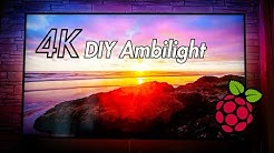 "DIY 4K UHD Ambient Light ""Ambilight"" mit dem Raspberry Pi 3 (ausführlich) 