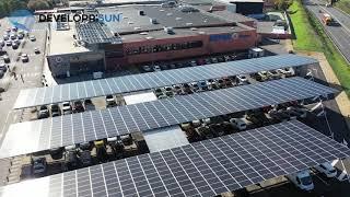 Ombrières solaires  parking  SUPER U  VIVONNE