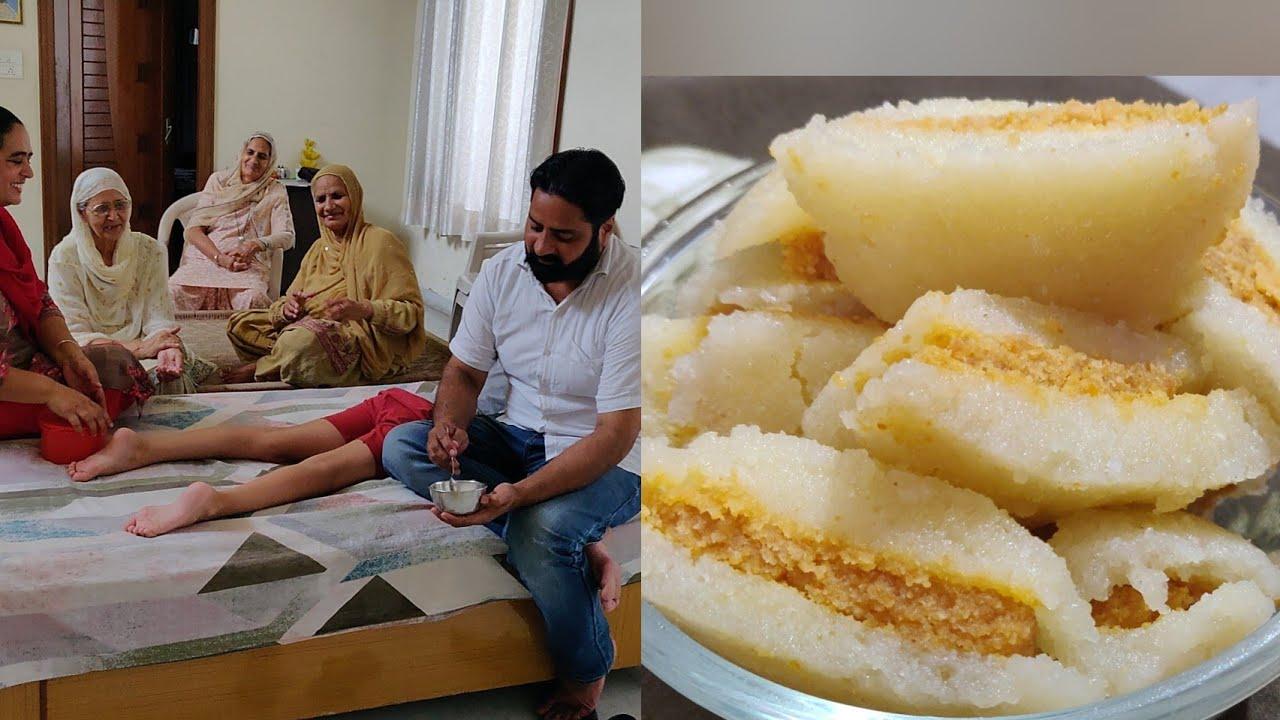My Mom is So Happy Today || Recipe of Halvai Style Cham Cham 🤔 ਹਲਵਾਈ ਸਟਾਈਲ ਚਮਚਮ😋 Village Lifestyle