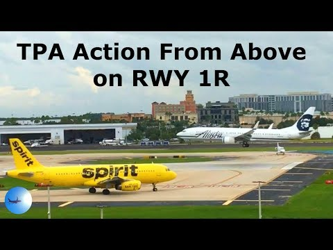 Runway 1R Action Tampa International