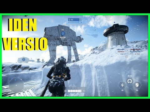 Star Wars Battlefront 2 - Iden Versio gameplay!  Trying to win on Hoth while attacking!