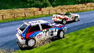 SEGA Rally Championship (1995) ALL Cars & ALL Courses Playthrough / SEGA Saturn