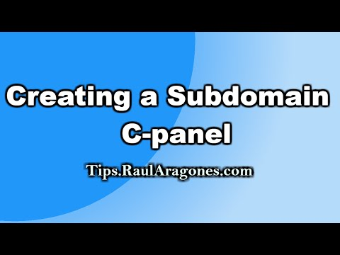 Creating a Subdomain - cpanel install #1: creating a subdomain & database