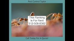 Pest Control Taylor | Pest Control Exterminator Services in Taylor