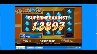 Super mega big win | Dazzle me big win | free spins| casino sverige