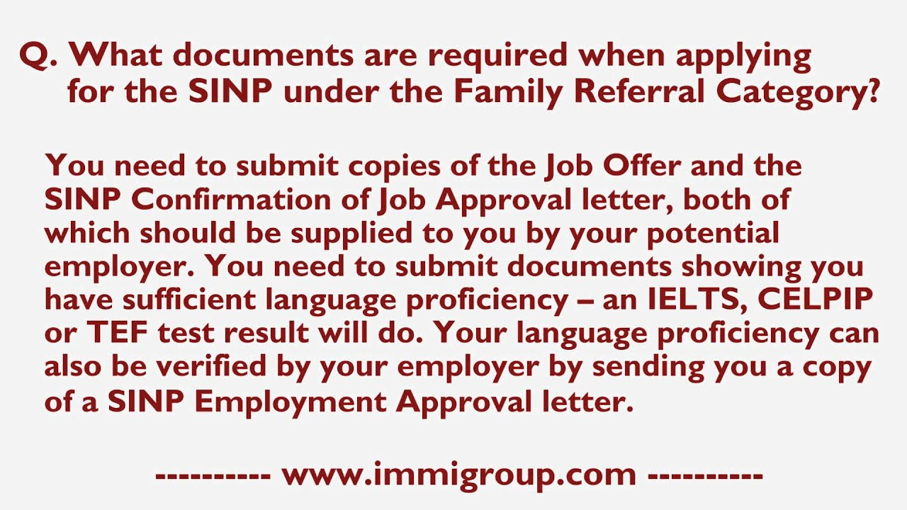 What documents are required when applying for the sinp under the what documents are required when applying for the sinp under the family referral category thecheapjerseys Choice Image