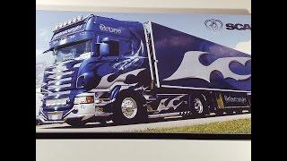 """Нарды Backammon """"Scania"""" из стекла как подарок другу мужчине дальнобойщику на день рождения."""