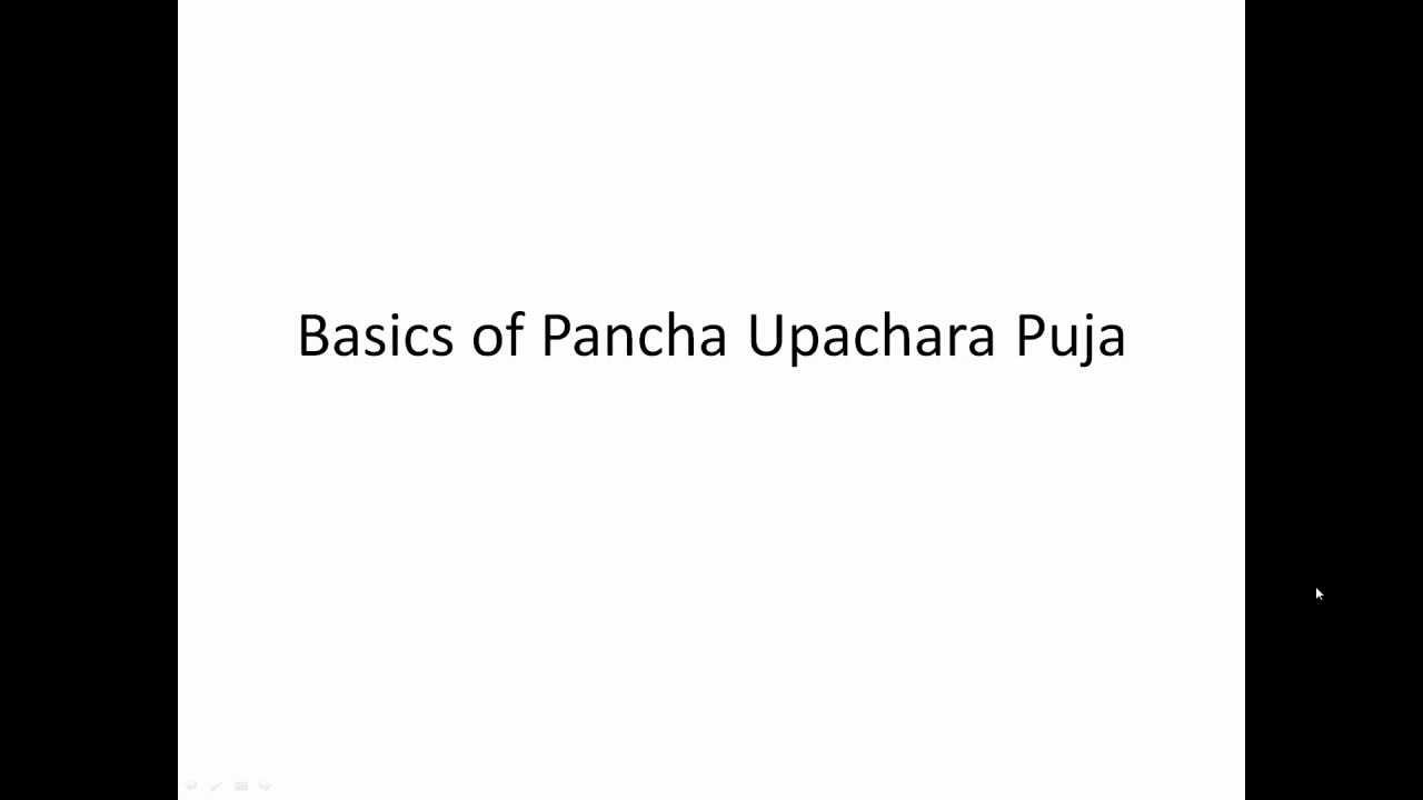 Basics of Pancha Upachara Puja