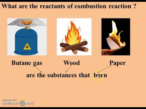 combustion reaction - YouTube