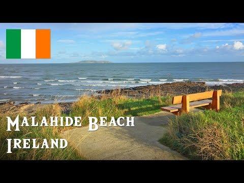 Malahide Beach, Malahide Town, Ireland - November 2017 (4K)