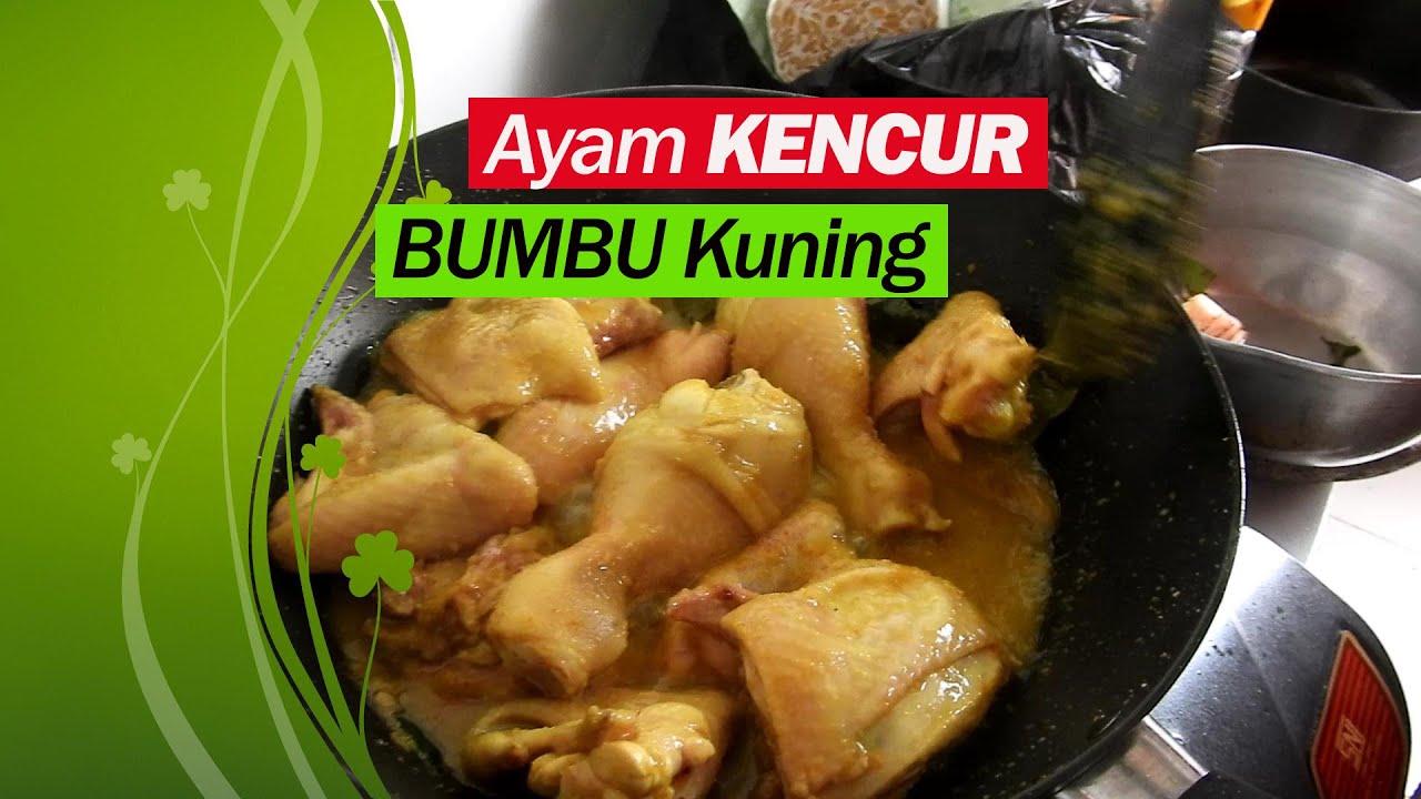MASAK AYAM KUNING BUMBU KENCUR | Makan Enak